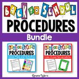 Back to School Classroom Procedures Bundle