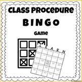 Back to School Classroom Procedures BINGO - FREEBIE