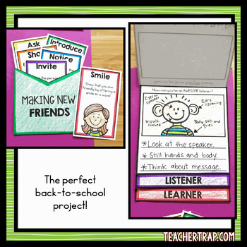 Back to School Classroom Procedures Lapbook
