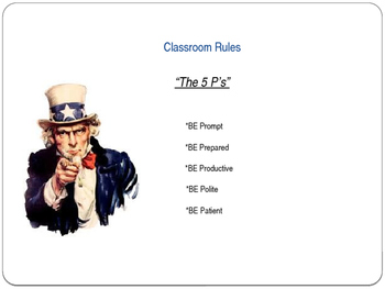 Back to School Classroom Procedures Powerpoint