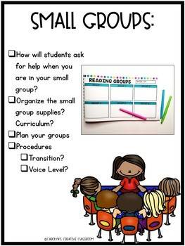 Back to School Classroom Procedures and Routines Checklist