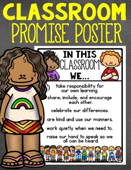 Back to School Classroom Promise Poster and Display Acitivity