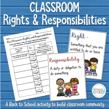 Back to School - Classroom Rights and Responsibilities