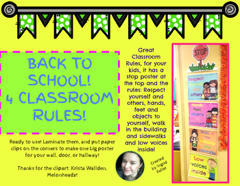 Back to School! Classroom Rules! 2016-2017