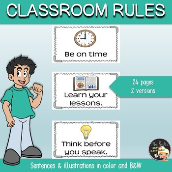Classroom Rules Flashcards
