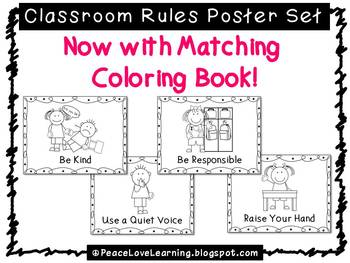 Back to School - Classroom Rules Poster Set