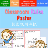 Back to School - Classroom Rules Poster Set {Simplified Ch}
