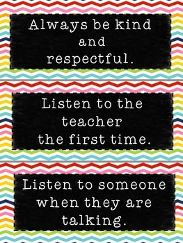 Back to School Classroom Rules Posters & Booklet