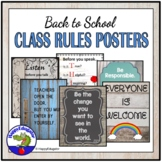 Back to School Classroom Rules Posters for Shabby Chic