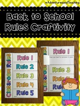 Back to School Classroom Rules Writing Craftivity