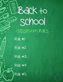 Personalized Poster. Back to School Classroom Rules