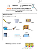 Back to School Classroom Scavenger Hunt