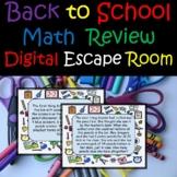 Back to School Classroom Scavenger Hunt Digital Math Escape Room Google Form