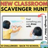 Back to School Classroom Scavenger Hunt Game DISTANCE LEARNING #7 Google Slides™