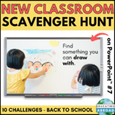 Back to School Classroom Scavenger Hunt Game DISTANCE LEARNING #7 PowerPoint