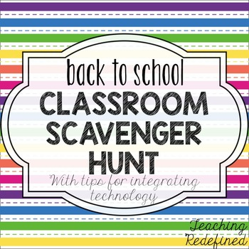 Back to School Classroom Scavenger Hunt {with ipad ideas!}
