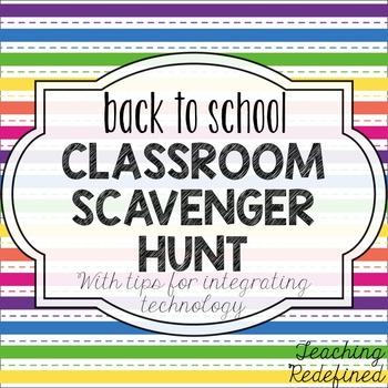 Back to School Classroom Scavenger Hunt {with ipad ideas!}