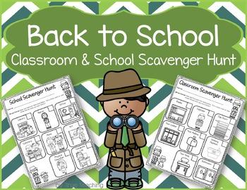 Back to School Classroom & School Scavenger Hunt