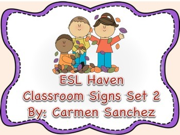 Back to School Classroom Signs Set 2