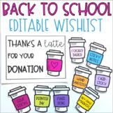 Back to School Classroom Supplies Wishlist (editable)