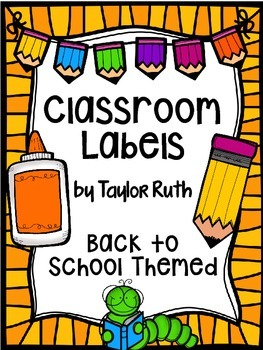 Back to School Classroom Supply Labels