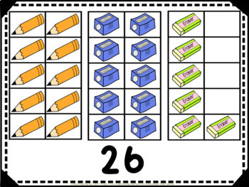 Back to School - Classroom Themed Vertical Tens Frames Pack