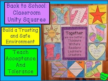 Back to School:  Classroom Unity Squares
