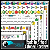 Back to School Borders Clip Art (Colored)