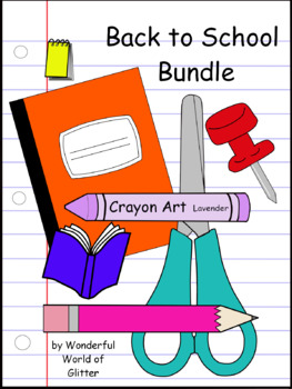 Back-to-School Clip Art Bundle