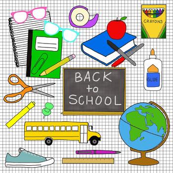 Back to School Clip Art - Color