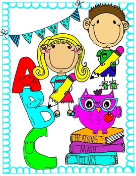 Back to School Clip Art {Confetti and Creativity Clip Art}