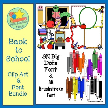 Back to School Clip Art and Font Bundle