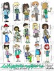 Back to School Clip Art: JPEGS, PNGS, PDFs of Hand Drawn Students