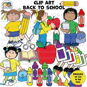 Back to School Clip Art (Karen's Kids)