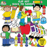 Clip Art BACK to SCHOOL (Karen's Kids Clip Art)