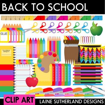 Back to School Clip Art Mega Bundle
