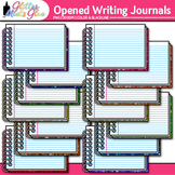 Opened Writing Journal Clip Art {Back to School Supplies f