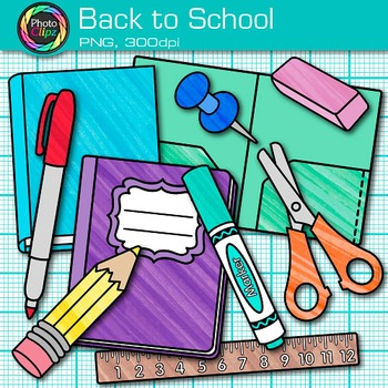 Back to School Clip Art - School Supplies Clip Art - Free Clip Art