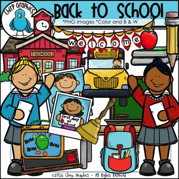 Back to School Clip Art Set - Chirp Graphics