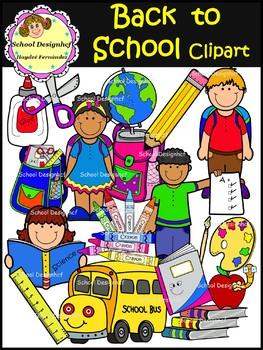 Back to School Clip Art - Set II (School Designhcf)