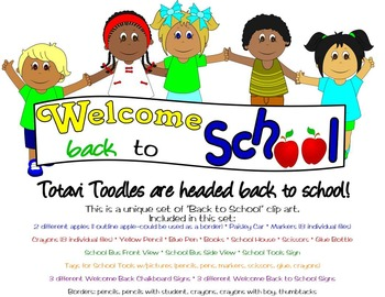 Back to School Clip Art * Signs * Borders * Tags