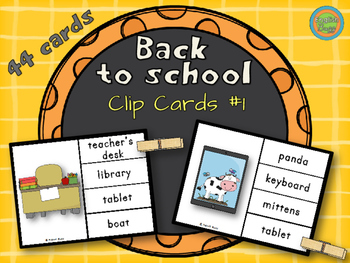 Back to School - Clip Cards #1