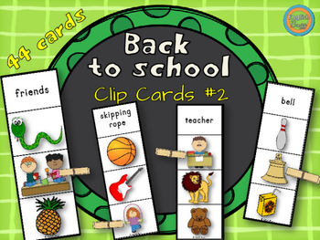 Back to School - Clip Cards #2