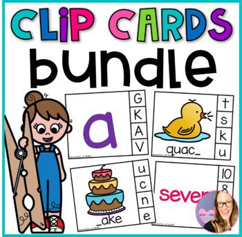 Back to School Clip Cards BUNDLE