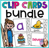 Back to School Clip Cards BUNDLE