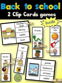 Back to School - Clip Cards Bundle