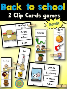 Back to School - Clip Cards Bundle
