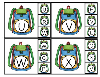 Back to School Clip Cards/Clothespin- Math & Literacy