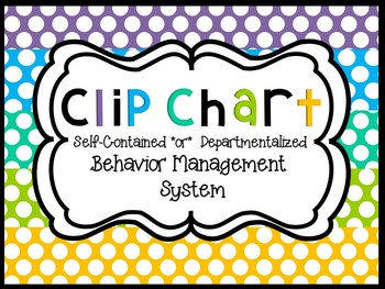 Back to School - Clip Chart Management System Polka Dot/Solid/Chevron Styles