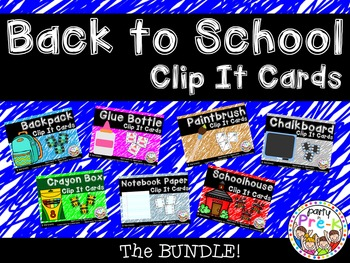 Back to School Clip It Cards BUNDLE